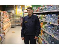 Охранник в супермаркет